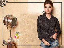 Vitara Top Dot Exclusive Designer Western Short Top