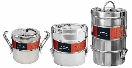 Stainless Steel Clip Lunch Box / Tiffin Box