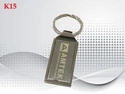 Metallic Logo Designer Metal Key Ring, Shape: Rectangular