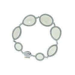 Gemstone Diamond Chain Bracelet