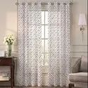 52 X 60 Inch Misha Taupe Patina Sheer Curtain