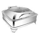 Square Glass Lid Chaffer With  E E Frame