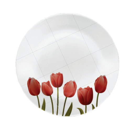 White Ceramic La Opala Tulip Garden opalware 27 Pcs Dinner Set, Microwave Safe: Yes, Packaging Type: Box