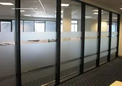 Aluminium Sliding Glass Partition