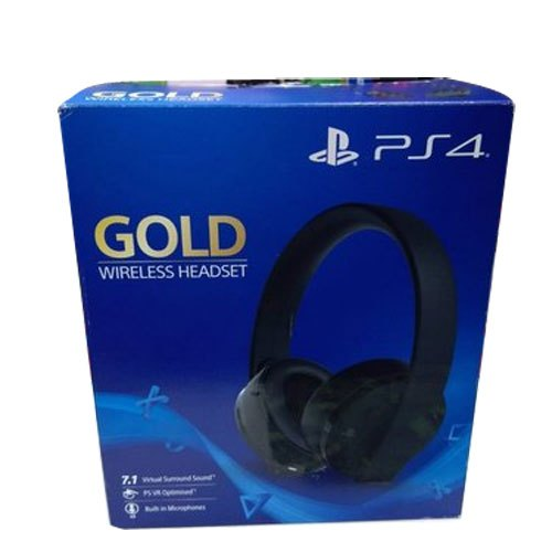 Black In The Ear Ps4 Gold Wireless Headset Weight 230 G Rs 7000 Piece Id 21306858888