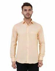 Light Lemon Color Full Sleeve Casual Shirt