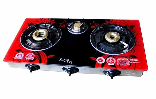 kitchen gas stove. Surya , Laxmi And Other Multi Colors 3 Burner Gas Stove, Model No.: Kitchen Stove A