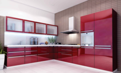 Commercial Acrylic Modular Kitchen, Warranty: 1 Year