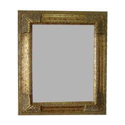 Golden Crystal Mirror Frame