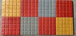 Multicolor Cement Concrete Parking Tiles