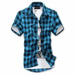 Cotton Collar Neck Mens Casual Shirt