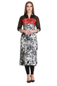Cottinfab Women's Embroidered Long Kurti