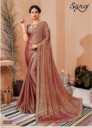 Stylish chiffon silk saree