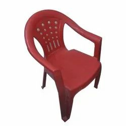 Red Plastic Garden Chair