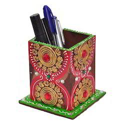 Mahesh Handicraft Wooden Pen Holder, For Office