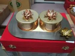 Copper Gift Box  With Tray.