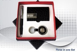 Black Leather Executive Gift Set
