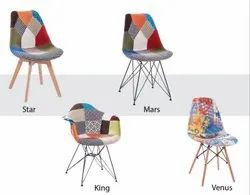 Modern Multicolor Designer Chairs, for Cafe, Back Style: Cushion