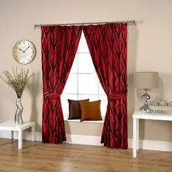 Wavy Marun Curtain