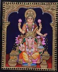 Lakshmi with vinayagar