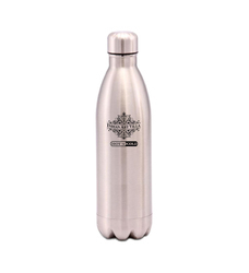 Silver Steel Insulated Vacuum Bottle, 500 ML, For Personal Use, Model Name/Number: IAV-SS-9-101-SL-500
