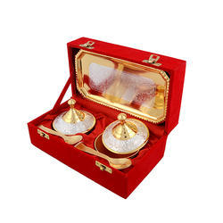 Traditional Silver And Gold Plated Mouth Freshener Set