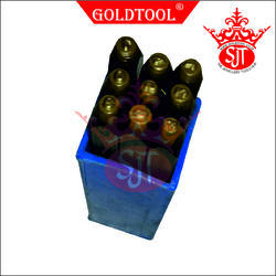 Gold Tool 0 To 9 Stamp