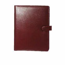Leatherette Dark Brown Document Folder