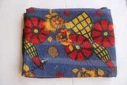 Handmade Kantha Gudri Bedspread