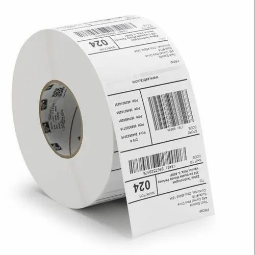 White Plain Thermal Bar Code Sticker Labels 75x40mm