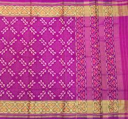 Pink Buti Silk Saree