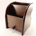 Brawn Wooden Pen Holder With Drawer, For Office