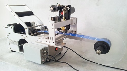 Round Bottle Labeling Machine With Batch Coding