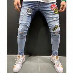 Anam Cara Button Mens Casual Denim Jeans, Waist Size: 30:32:34