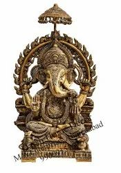 Brass Handicraft Ganesha Idol