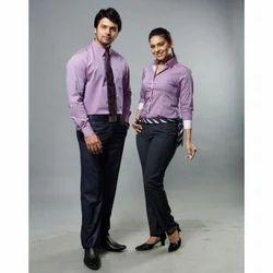 Lycra Cotton Plain Formal Corporate Uniform