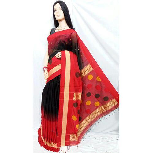 Cotton Handloom Saree - Fancy Cotton Silk Handloom Saree