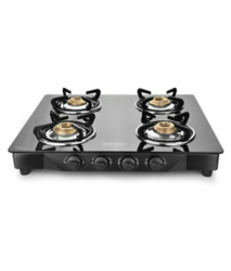 4B GT S.S Black Glass Cook Top, For Kitchen