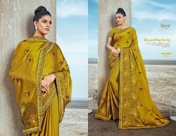 Party Fancy Yellow  Ethnic Saree