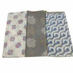 Indigo Cotton Fabric, Use: Bag And Dress