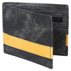 Leather Black, Mustard Mens Fancy Wallet