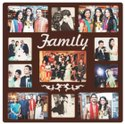 Brown Wooden Collage Frame, For Gift, Size: 18*18 Inch
