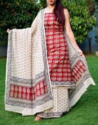 Casual Bagh Print Cotton Suit
