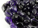 Amethyst Stone Unshaped Smooth Nuggets Tumble Beads