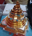 Golden Brass Meru Shree Yantra, Size: 6*6mm