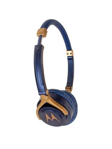 d8eba74db2d Blue-gold Motorola Blue & Gold-Toned Wired Pulse 3 Over-Ear Headphones