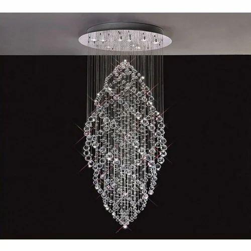 Modern glass crystal hanging chandelier rs 8999 piece efl impex modern glass crystal hanging chandelier aloadofball Images