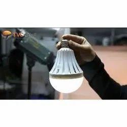 Pure White Round Oreva Rechargeable Emergency LED Bulb, 7 W, Base Type: B22