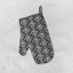 Motif Printed Oven Mittens
