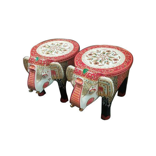 Miraculous Wooden Elephant Stool Onthecornerstone Fun Painted Chair Ideas Images Onthecornerstoneorg